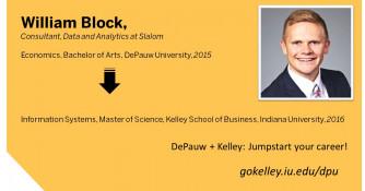 Economics Major - DePauw + Kelley Participant