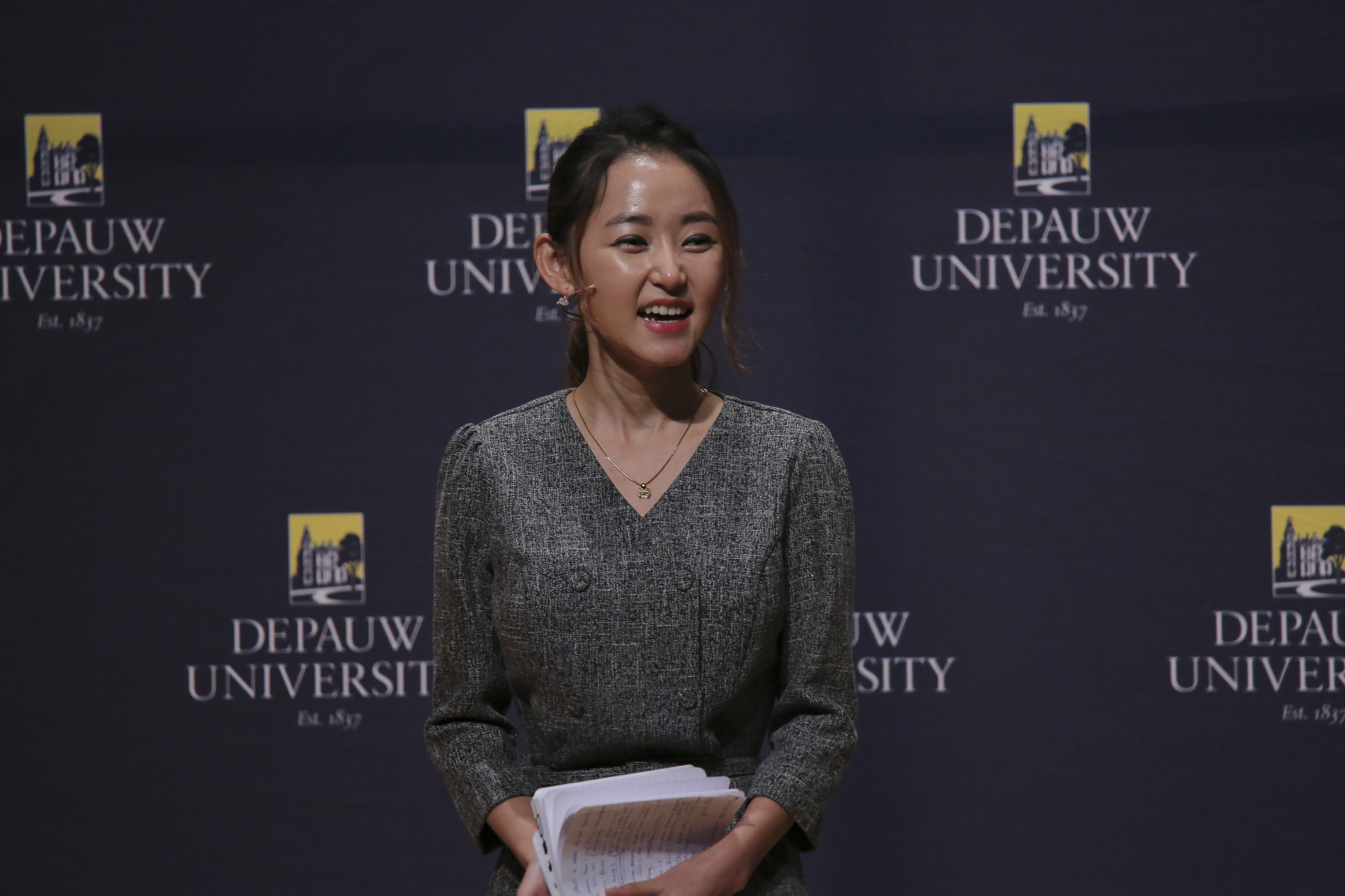 Human rights activist Yeonmi Park became the youngest-ever Ubben Lecturer on Oct. 5, 2015.