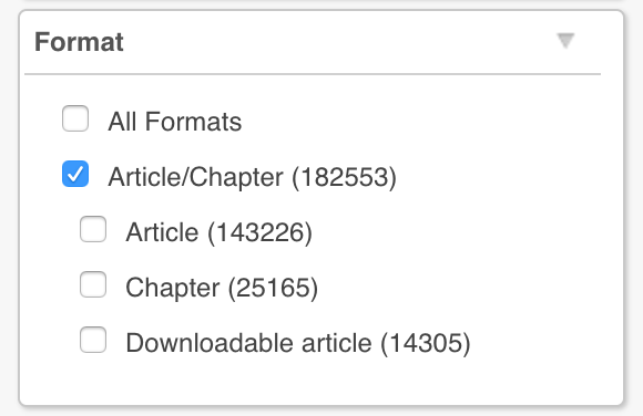 Article Filter