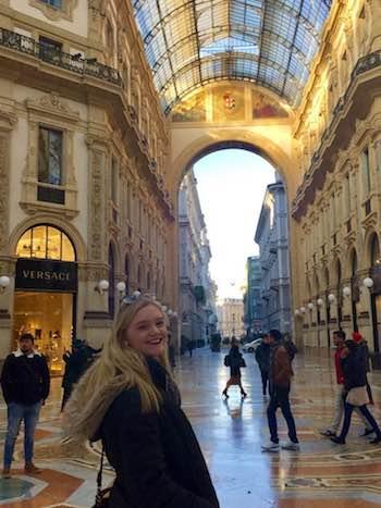 Olivia Muller in Italy
