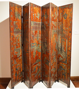 Coromandel Screen, Ching Dynasty Chinese, Ching Dynasty, 1795 C.E. paint and gesso on carved wood Gift of David M. Shoup, 1975.1.1