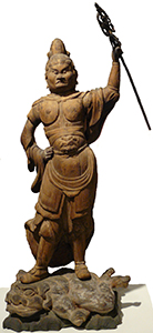 Kômoku-ten, Guardian King of the West Japanese, c. 1000 C.E.