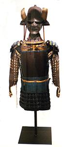 Suit of Samurai Armor Japanese, Ashikaga Period (1338 – 1573 C.E.) fabric, metal and mixed media Gift of Arthur E. Klauser '45