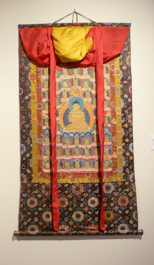 Shakyamuni Stong Sku (or 1000 Bodies) Thangka Tibetan, early 20th century