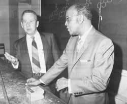 Howard Burkett with Percy Lavon Julian, 1970