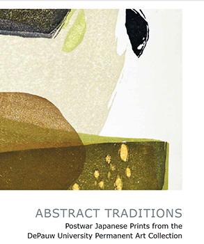 Cover art for 2016 Abstract Traditions: Postwar Japanese Prints from the DePauw University Permanent Art Collection