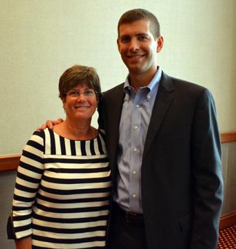 Boston Celtics Coach Brad Stevens 99 Receives Depauw S Young Alumni Award Depauw University
