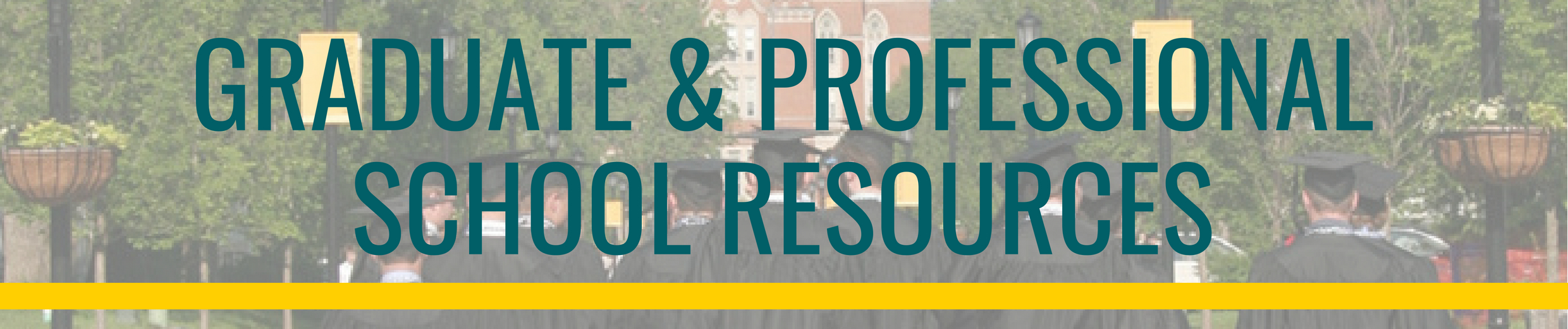 Graduate and Professional School Resources