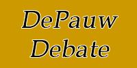 DePauw Debate Team logo