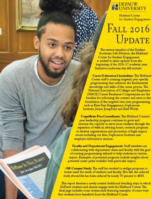 Hubbard Center Fall 2016 Update