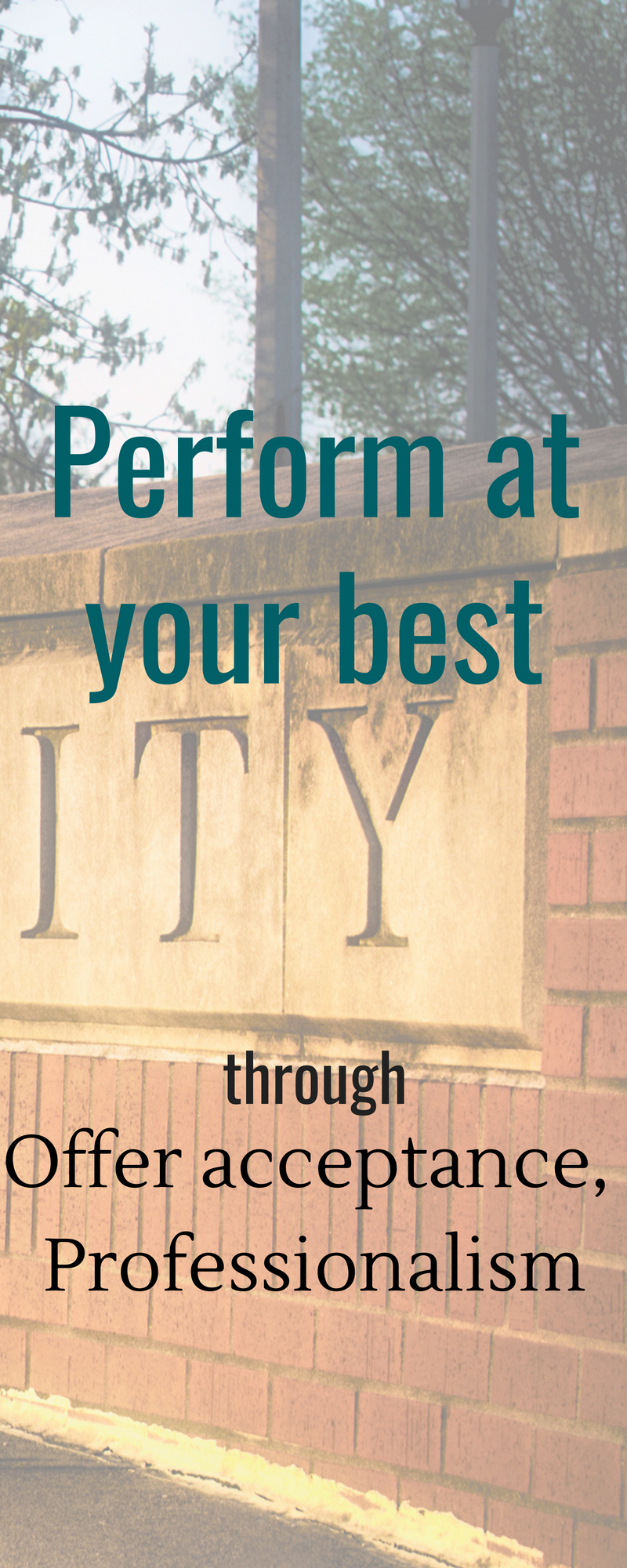 Perform at your best