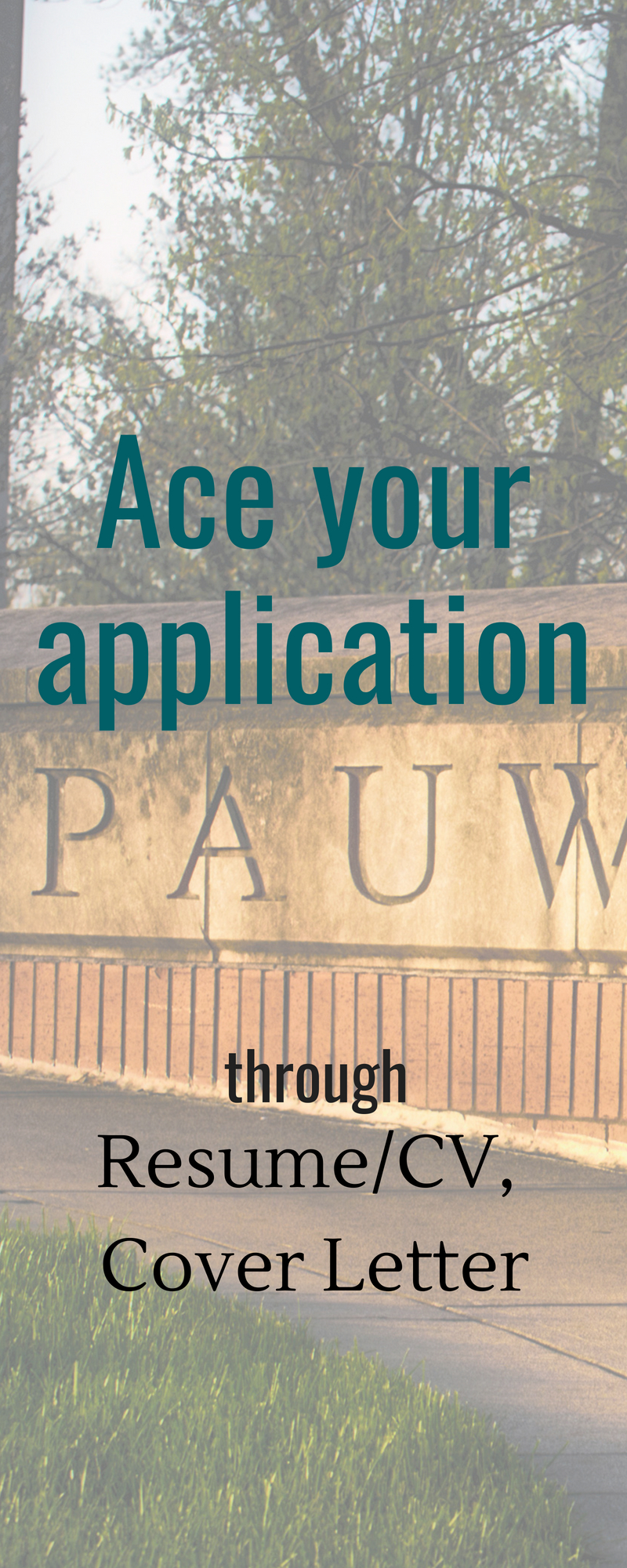 Ace your Application