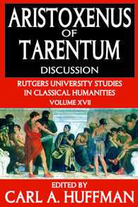Aristoxenus of Tarentum, Discussion edited by Carl A. Huffman book cover