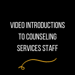 Counseling services webinars banner