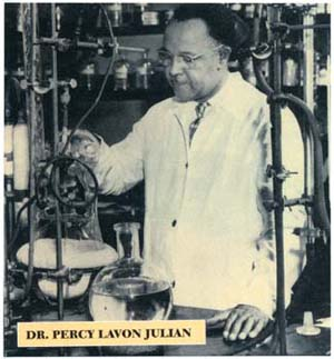 Dr. Percy Lavon Julian in his lab