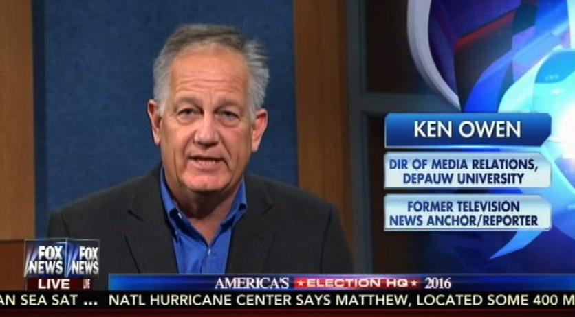 Ken Owen '82 Previews Kaine-Pence Debate on Fox News Channel
