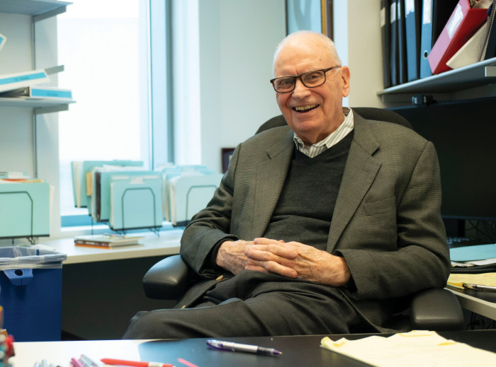Lee Hamilton '52 at his desk