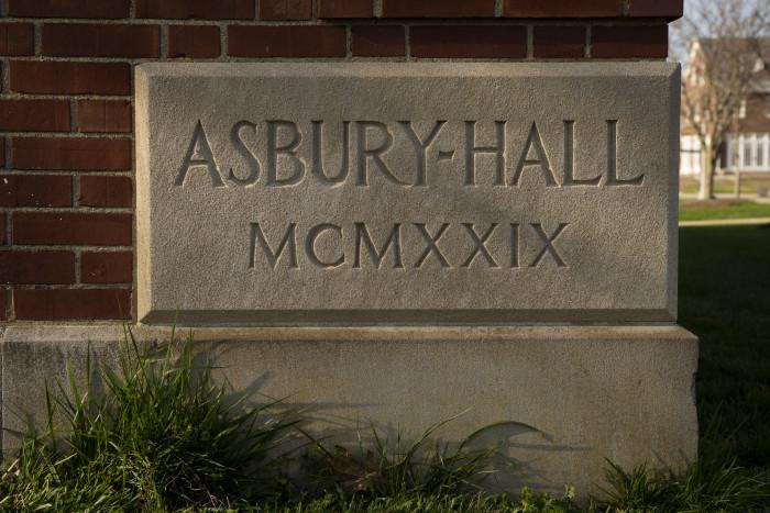 Asbury Hall sign