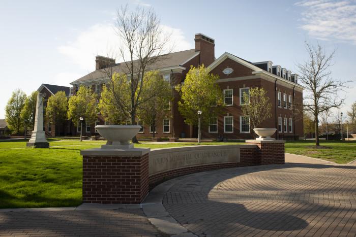 Scenic campus shot