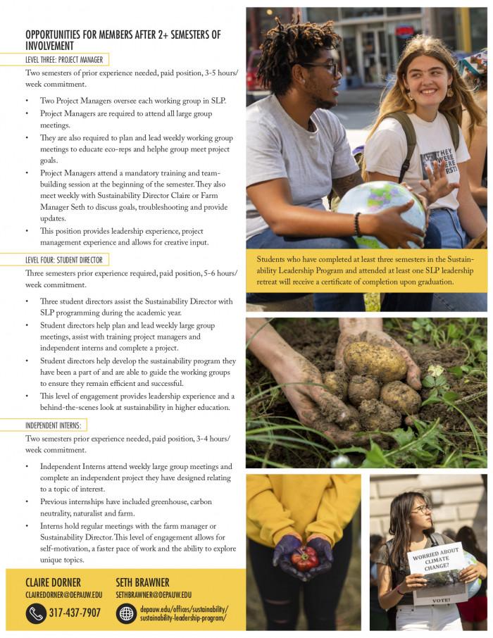 Sustainability Leadership Program brochure page 2
