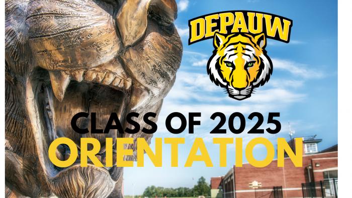 DePauw Class of 2025 Orientation banner