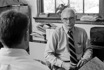 Professor Bob Newton in 1989