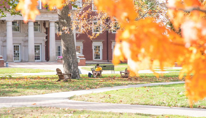 Campus in the fall