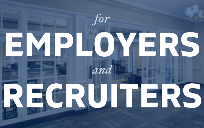 An image that says Employers and recruiters and links to the page Employers