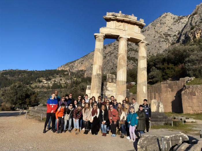 Greece Winter Term visits the Sanctuary of Apollo