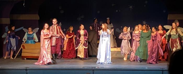DePauw Opera cast on stage