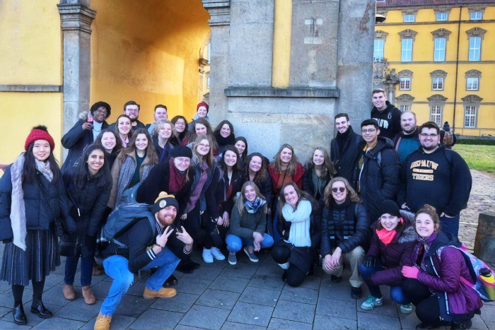 The DePauw Chamber Singers in Europe