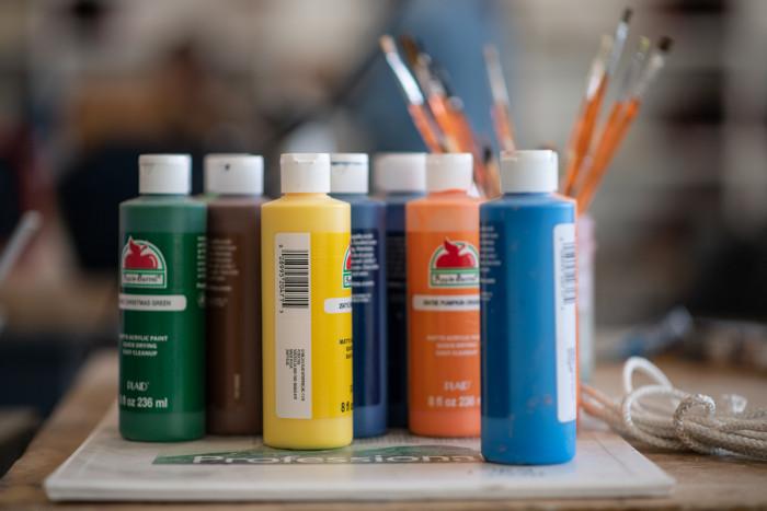 Paint bottles in Peeler class