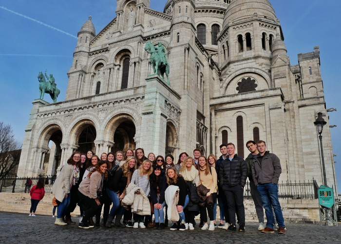 Students at Sacre Couer