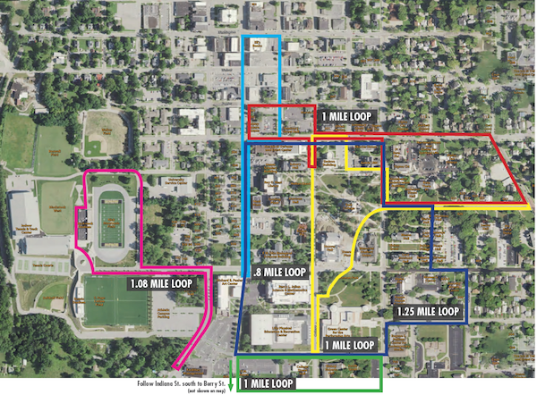 Highlighting walking routes