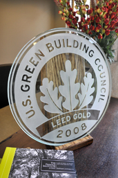 Award from the U.S. Green Building Council for LEED GOLD Certification in 2008