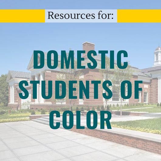 Domestic Students Of Color