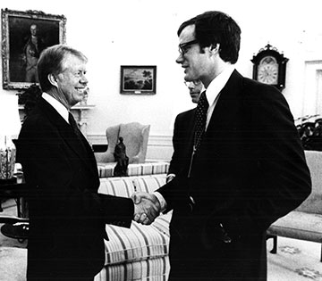 McWethy '69 with President Jimmy Carter