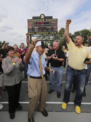 Mourouzis celebrates football win as field dedicated to him