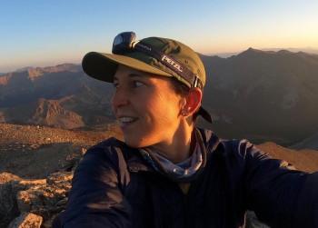 Micah Ling '03 on a mountaintop