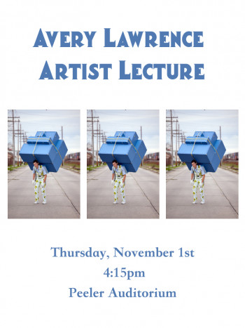Avery Lawrence Artist Lecture flyer