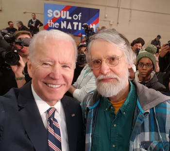 Joe Biden and Bruce Stinebrickner