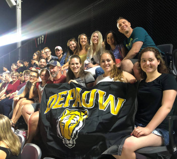 DePauw alumni at the D.C. United Soccer Game