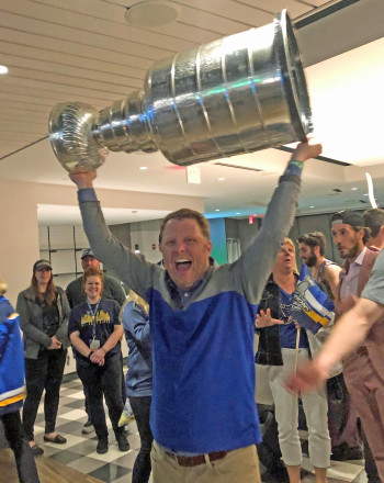 Eric Stisser with Stanley Cup