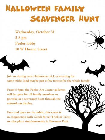 Halloween Family Scavenger Hunt flyer