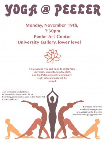 Yoga@Peeler flyer