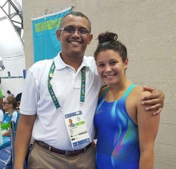 Nuna Bamatraf with her father