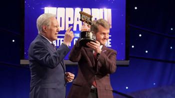 Ken Jennings with Alex Trebek