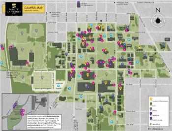 Printable parking map of DePauw