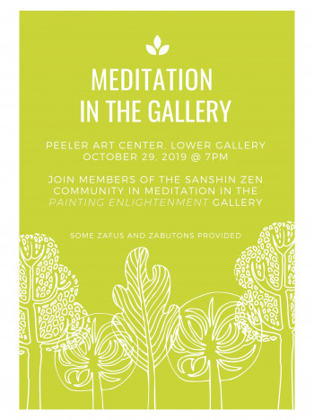Meditation in the Gallery flyer