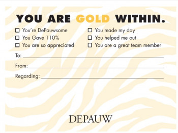 You are Gold Within appreciation note sample